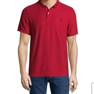 🆕 U.S. POLO ASSN Red Polo Shirt Medium
